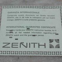 Zenith vintage warranty paper stamp dealer