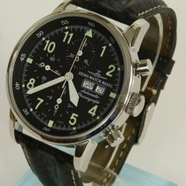 Zeno-Watch Basel XL Pilot Automatic chronograph. Day-Date