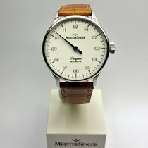 Meistersinger Pangea PM908 weiß, Index gold