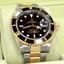 Rolex Submariner 16613ln 18k Yellow Gold /SS Black Bezel ...