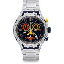 Swatch Men's Irony YYS4006AG Silver Aluminum Swiss Quartz...