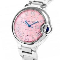 Cartier Ballon Bleu Pink Dial Stainless Steel Automatic Ladies...