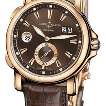 Ulysse Nardin 246-55/95 Dual Time 42mm in Rose Gold - On Brown...