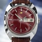 Enicar Very Rare Vintage Swiss Made Mens 1970s Burgundy...