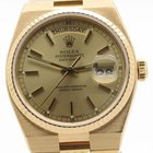 Rolex Day-date Oysterquartz President 18k Yellow Gold 19018 W/...