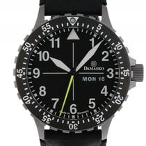 Damasko DA46 Stahl Automatik Armband Leder Faltschließe 40mm