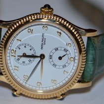 Patek Philippe Calatrava Travel Time 18K Solid Gold 4864J...