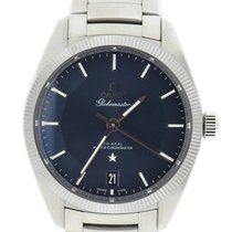 Omega Constellation Globemaster Blue Stainless Steel