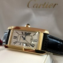 Cartier Tank Americaine Yellow Gold Automatic 42 x 23 mm (Full...