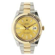 勞力士 (Rolex) DATEJUST II 41mm 18K Yellow Gold Bezel Champagne...