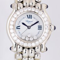 Chopard Happy Sport Flying Diamonds Luxus White Gold Bezel...