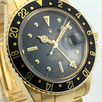 勞力士 (Rolex) GMT Matser Vintage Nipple Dial 18K Gold Box Papers...