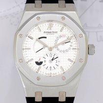 Audemars Piguet Royal Oak Dual Time Stahl white Dial Steel...