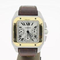 Cartier Santos 100XL Steel/Gold Chrono (B&P2006) 52mm