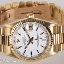 Rolex - Mid-Size President Datejust : 68278 white dial on...