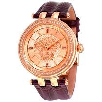 Versace V-Helix Rose (Medusa Head) Dial Ladies Watch