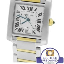 Cartier Tank Francaise Full-Size Auto Two-Tone Gold Date Watch