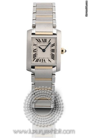 Cartier Tank Francaise 18kt Yellow Gold and Stainless Steel Ladies Watch W51007Q4