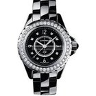 Chanel H2427 J12 Black Dial and Bezel Ladies' Diamond Watch