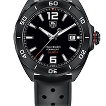 TAG Heuer FORMULA 1 CALIBRE 5 AUTOMATIC WATCH BLACK DIAL,RUBBE...
