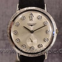 Longines White Gold Classic Sertie Diamond Indexes Dial...