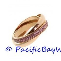 Cartier Rose Gold Trinity Pink Sapphire Ring