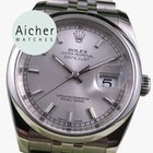 Rolex Top Condition Oyster Perpetual Datejust Grey Silver Men´s