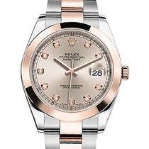 Rolex Datejust 41 126301 Sundust Diamond Rose Gold Stainless...