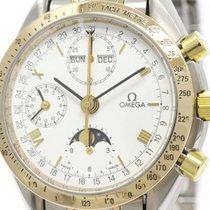 Omega Polished Omega Speedmaster Triple Date Moonphase 18k...
