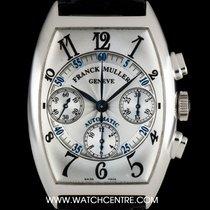 Franck Muller 18k White Gold Master Banker Chronograph B&P...