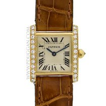 Cartier 18k yellow gold ladies Tank Francaise