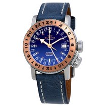 Glycine Airman 18 Royal Blue Dial Automatic Men's World...