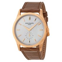 Patek Philippe Calatrava Opaline Dial 18K Rose Gold Mens Watch...