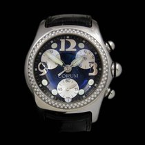 Corum Bubble Swiss Watch 45mm Black Dial Quartz Chronograph