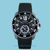 Cartier Calibre de Cartier Diver Stahl Kautschuk -NEU-