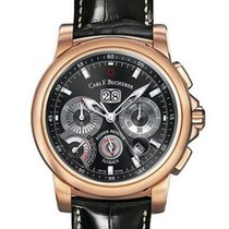 Carl F. Bucherer Patravi ChronoGrade 44.6mm Rose Gold Blk Dial...