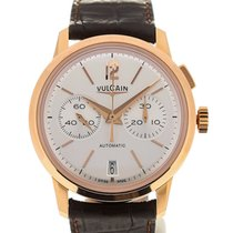 Vulcain 50s Presidents'Chronograph 42 Pink Gold Silver-toned
