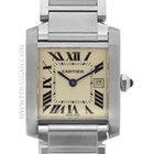 Cartier stainless steel mid-size Tank Francaise