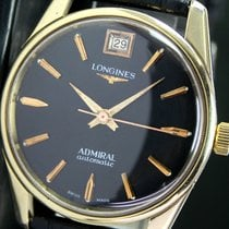 Longines Admiral Automatic Date Gold Cap Steel Mens Watch