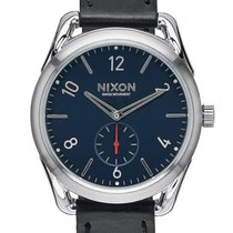 Nixon C39 Leather Black/Red A459-008