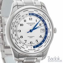 Longines Master Collection GMT Watch 42mm Date White Dial...