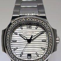 Patek Philippe Ladies Nautilus Steel Diamond Watch Box/Papers...