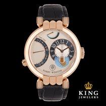 Harry Winston 18K Rose Gold Premier Excenter Timezone