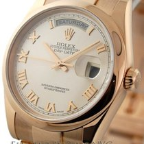 Rolex Day-Date 18k Rose Gold Pink Roman Dial Ref. 118205