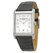 Baume & Mercier Hampton steel leather watch Men quartz...