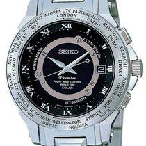 Seiko Premier Radio Wave Control World Time Solar SPP001J1