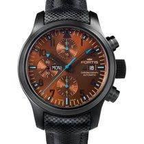 Fortis Aviatis Blue Horizon Chrono Day Date Auto Pvd Watch Ltd...