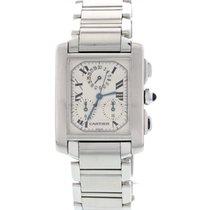 Cartier Men's Cartier Tank Francaise Stainless Steel Watch...