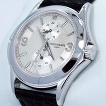 Patek Philippe Calatrava Travel Time Gmt 5134g 18kt White Gold...