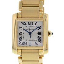 Cartier Large Cartier Tank Francaise 18k Yellow Gold 1840